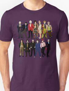 Doctor Who - Alternate Costumes 13 Doctors Unisex T-Shirt
