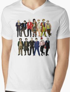 Doctor Who - Alternate Costumes 13 Doctors Mens V-Neck T-Shirt
