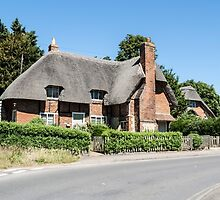 Thatched cottages at Clifton Hampden by Jim Hellier