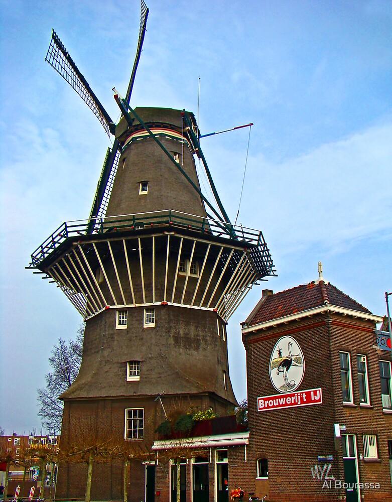 Dutch Windmill, Amsterdam by Al Bourassa