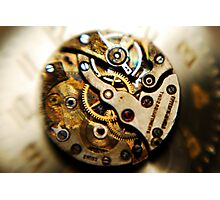 the magic inside the timepiece Photographic Print