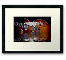 Guitar and Flood Framed Print