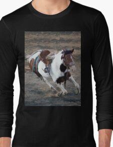Bucking Pinto Horse Long Sleeve T-Shirt