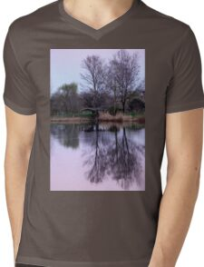 reflections on the lake Mens V-Neck T-Shirt