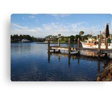A Tweed Marina jetty Canvas Print