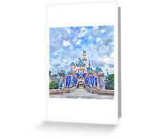 Disneyland 60th Anniversary Castle Greeting Card