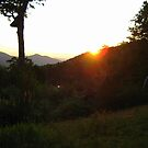 Sunset On The White Mountains by Littlehalfwings