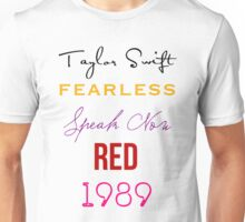 Taylor Swift albums Unisex T-Shirt