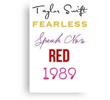 Taylor Swift albums Canvas Print