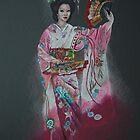 Dancing geisha by OksanaAyvaz