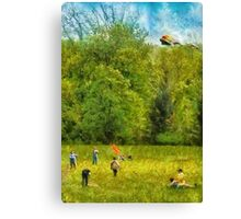 Americana - Let's go fly a kite Canvas Print
