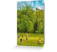 Americana - Let's go fly a kite Greeting Card