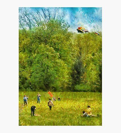Americana - Let's go fly a kite Photographic Print