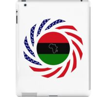 Black Murican Patriot Flag Series iPad Case/Skin
