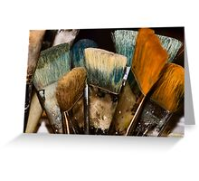 An Artist's Tools Greeting Card