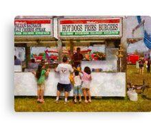 Amusement - Daddy I want a hot dog Canvas Print