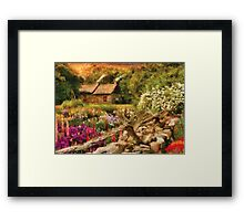 Cottage - There's no place like home Framed Print