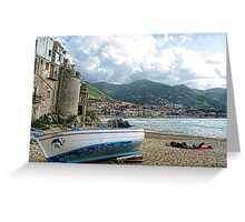 Fishing Boat - Cefalu,  Sicily Greeting Card