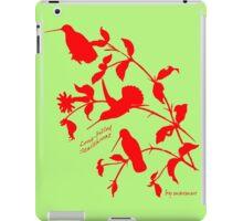 red long-billed starthroat iPad Case/Skin