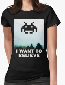 Believe in the Invaders. Womens Fitted T-Shirt
