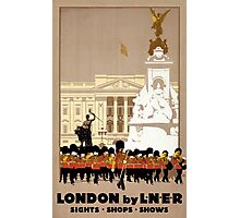 London Vintage Travel Poster Restored Photographic Print