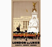 London Vintage Travel Poster Restored Unisex T-Shirt