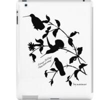 Black long-billed starthroat iPad Case/Skin