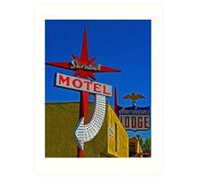 Stardust Motel III Art Print