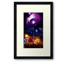 Gastonbury UFO Arcadia Framed Print