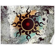 Love Vinyl Records - Music Art Prints with Grunge Texture - T-Shirt and Stickers Poster