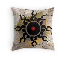 Retro Vinyl Records - Vinyl Sunrise - Modern Cool Vector Music T-Shirt DJ Design Throw Pillow