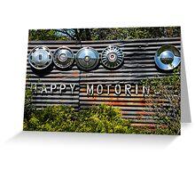 Happy Motoring Greeting Card