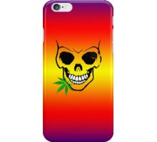 Skull with Weed -  Cool Skull with Pot iPhone Case/Skin