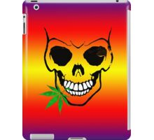 Skull with Weed -  Cool Skull with Pot iPad Case/Skin