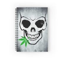 Skull with Weed -  Cool Skull with Pot Spiral Notebook