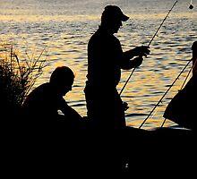 Fishing at Sunset by joAnn lense