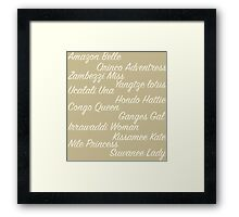 The Boats | Jungle Cruise Framed Print