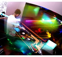 Lights - In the DJ Booth Photographic Print