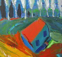 Poplars by Kerry  Thompson