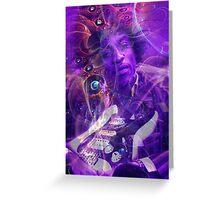 Hendrix Purple Hazed02 Greeting Card