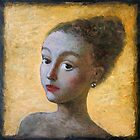 Woman on a yellow background (2). by ipalbus-art