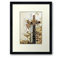cross shadowed by light Framed Print