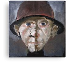 Man with hat. Canvas Print