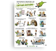 Captain Sustaino's Green Tips for the Eco-Conscious Office Goer  Canvas Print