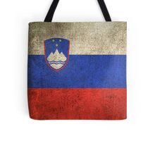 Old and Worn Distressed Vintage Flag of Slovenia Tote Bag