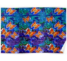 Wax Relief Butterflies Poster