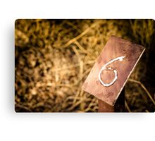 Number 6 Sign Canvas Print