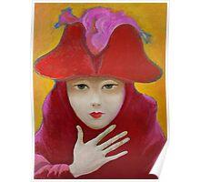 Woman in Venetian carnival costume. Poster