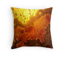 mapping of an abstract Throw Pillow