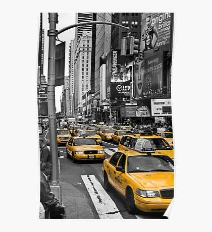 NYC Cabs - Times Square Poster